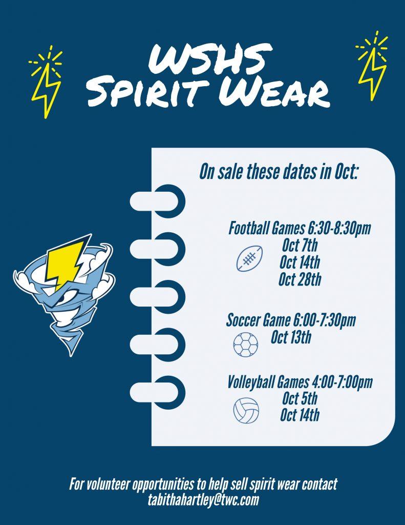 Spirit Wear For Sale!